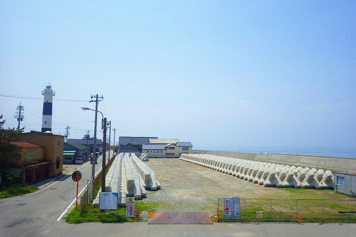 黒部漁港消波ブロック製作